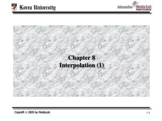 chapter 8 interpolation 1