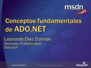 Conceptos fundamentales de ADO