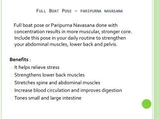 Full Boat Pose Health Benefits