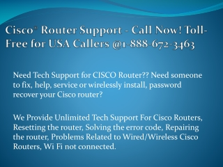 Tech Support For Cisco Router 1888-672-3463