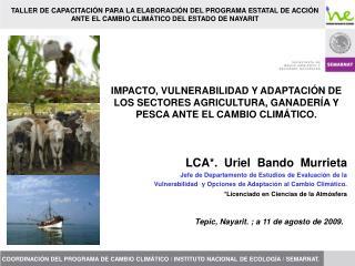 IMPACTO, VULNERABILIDAD Y ADAPTACI N DE LOS SECTORES AGRICULTURA, GANADER A Y PESCA ANTE EL CAMBIO CLIM TICO.