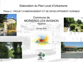 Elaboration du Plan Local d Urbanisme