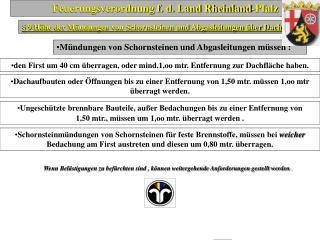 Feuerungsverordnung f. d. Land Rheinland-Pfalz