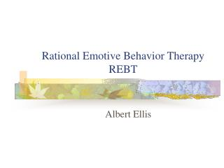 rational emotive behavior therapy rebt
