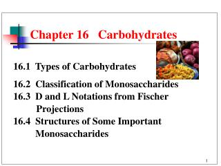 Chapter 16   Carbohydrates