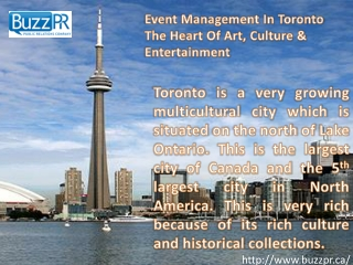 Event Management In Toronto  The Heart Of Art, Culture