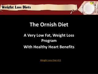 the low fat ornish diet