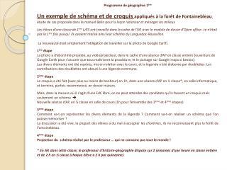 Programme de g ographie 1 re  Un exemple de sch ma et de croquis appliqu s   la for t de Fontainebleau,  tude de cas pro