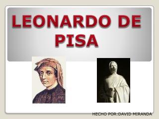 LEONARDO DE PISA