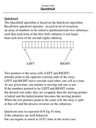 convex hulls quickhull