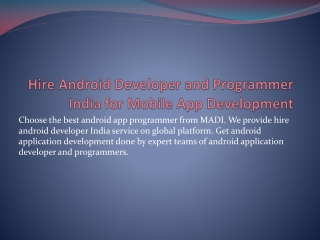 Deal with Android Game Developer India