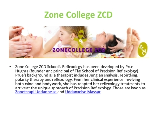 Zone College ZCD School's Reflexology