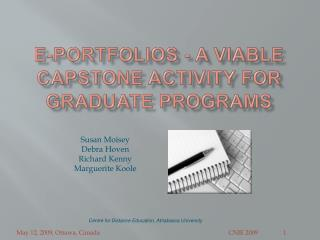 E-portfolios - A Viable capstone activity for graduate programs