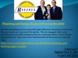 Plumbing and Furnace Repair services in Deerfield