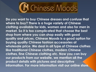 Buy Chinese Clothes at Cheap Prices