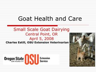 goat health and care
