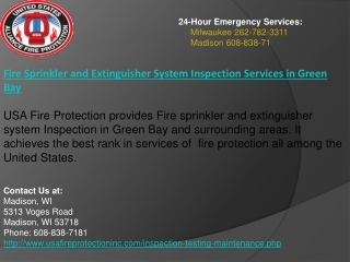 Fire Sprinkler and Extinguisher System Inspection Services i