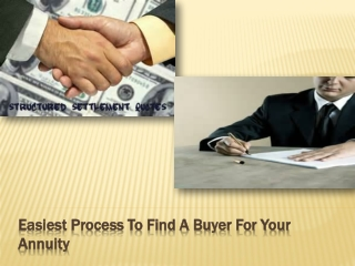 Easiest Process to Find a Buyer for Your Annuity