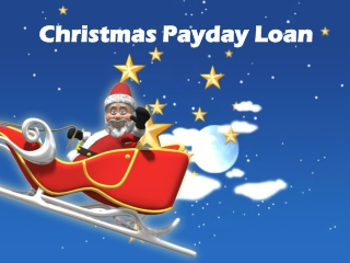 Christmas Payday Loan