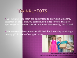 Twinklytots Baby Gifts