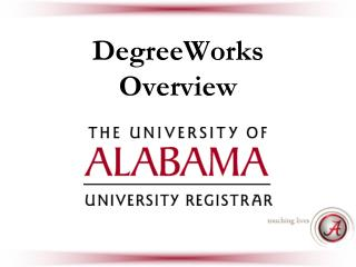 DegreeWorks Overview