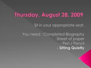 Thursday, August 28, 2009