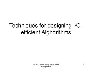 Techniques for designing I