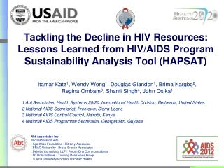 Tackling the Decline in HIV Resources: Lessons Learned from HIV