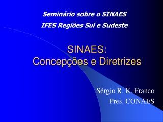 SINAES: Concep  es e Diretrizes