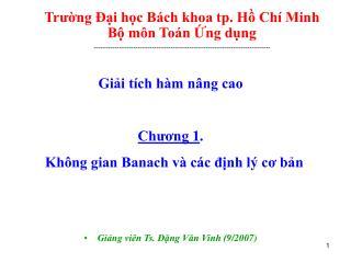 Trung  i hc B ch khoa tp. H Ch  Minh B m n To n ng dng -----------------------------------------------------------------