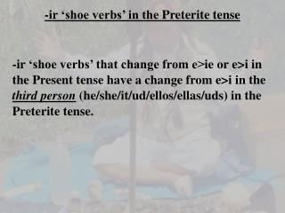 -ir  shoe verbs  in the Preterite tense