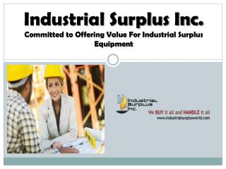 industrial surplus world - demolition contractor