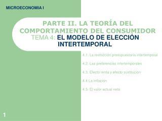 TEMA 4: EL MODELO DE ELECCI N INTERTEMPORAL