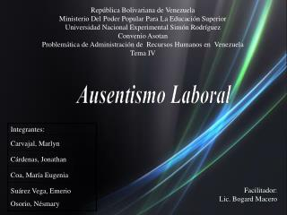 Rep blica Bolivariana de Venezuela Ministerio Del Poder Popular Para La Educaci n Superior Universidad Nacional Experime