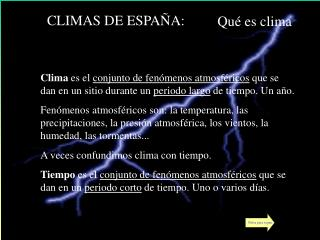 CLIMAS DE ESPA A: