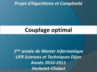 Projet d Algorithme et Complexit