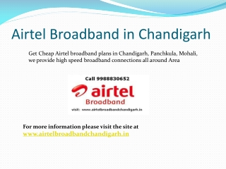 Airtel Broadband in Chandigarh 9988830652