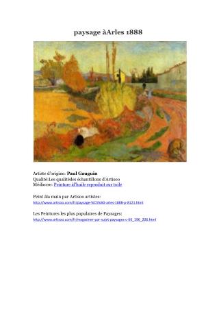 paysage à Arles 1888 -- Artisoo