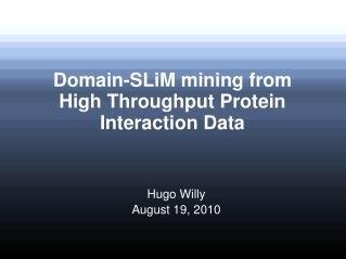 Domain-SLiM mining from High Throughput Protein Interaction Data