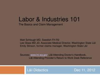 LI Didactics         Dec 11, 2012