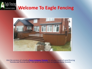 Residential Fencing Toronto