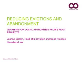 REDUCING EVICTIONS AND ABANDONMENT