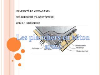 Universit  de Mostaganem  D partement d architecture   Module :structure