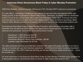 Antennas Direct Announces Black Friday