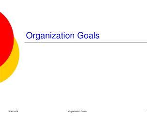 Organization Goals