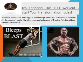 Jim Stoppani Hiit 100 Workout - Start Your Transformation To