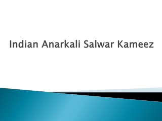 Indian Anarkali Salwar Kameez