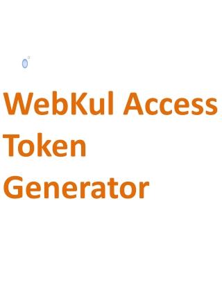 WebKul Access Token Generator