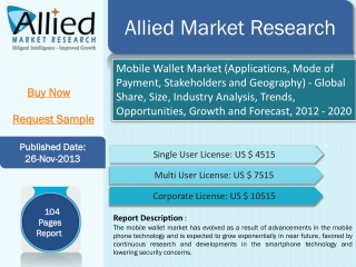 Global Mobile Wallet Market by Allied Market Research