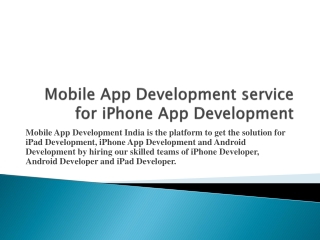 iPad Development India and Hire Mobile Application Developer